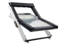 RotoQ fenêtre à rotation Q-4  en bois laqué blanc / bois vernis