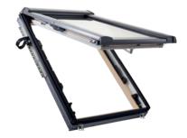 Designo R8 Quadro fenêtre de toit à ouverture par projection 45° en Bois